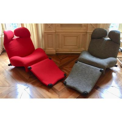 Pair Of Armchairs Wink Edition Cassina