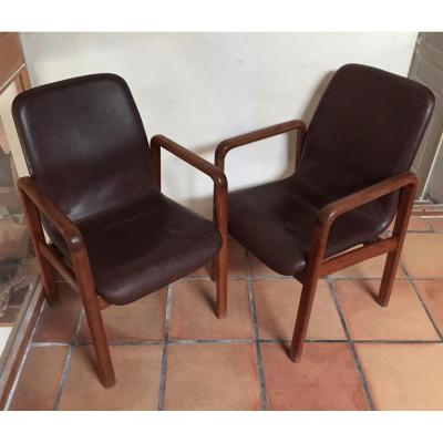 Pair Of Scandinavian Dyrlund Armchairs