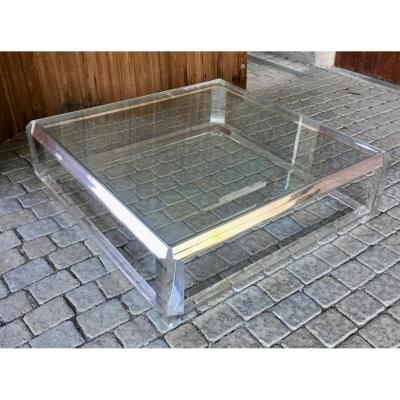 Large Plexiglass Coffee Table