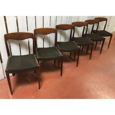 6 Chaises Niels Otto Moller -