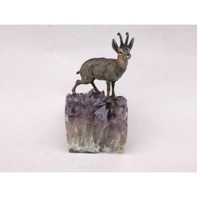 Vienna Bronze, Chamois On Amethyst