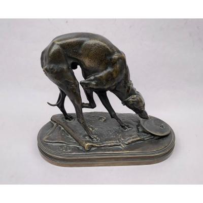 Bronze Animal, Dog, Greyhound, Alfred Jacquemart.