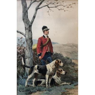 Charles Ferdinand De Condamy, Piqueur Et Chiens, Chasse à Courre, Vénerie.