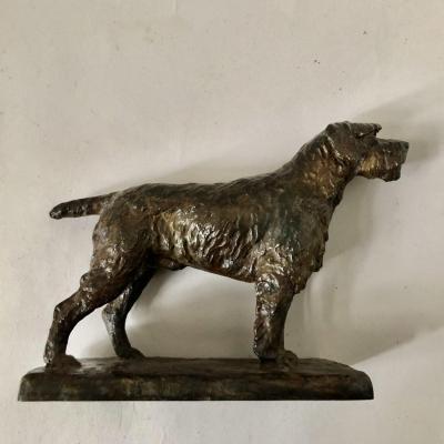Animal Bronze, Griffon Dog, Richard Fath