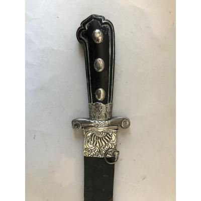 Hunting Dagger, Hunting Knife, XVIIIth Century, Silver