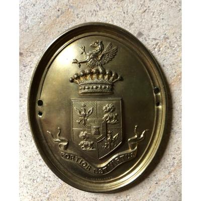 Avalos Family Hunting Guard Plate, Marquis Del Vasto, Naples