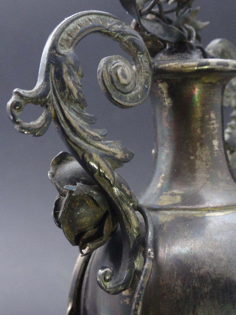 Moulinié Bautte & Cie 1804-1837  Pendule miniature de style Louis XVI en Argent massif montre de forme XIXe-photo-1