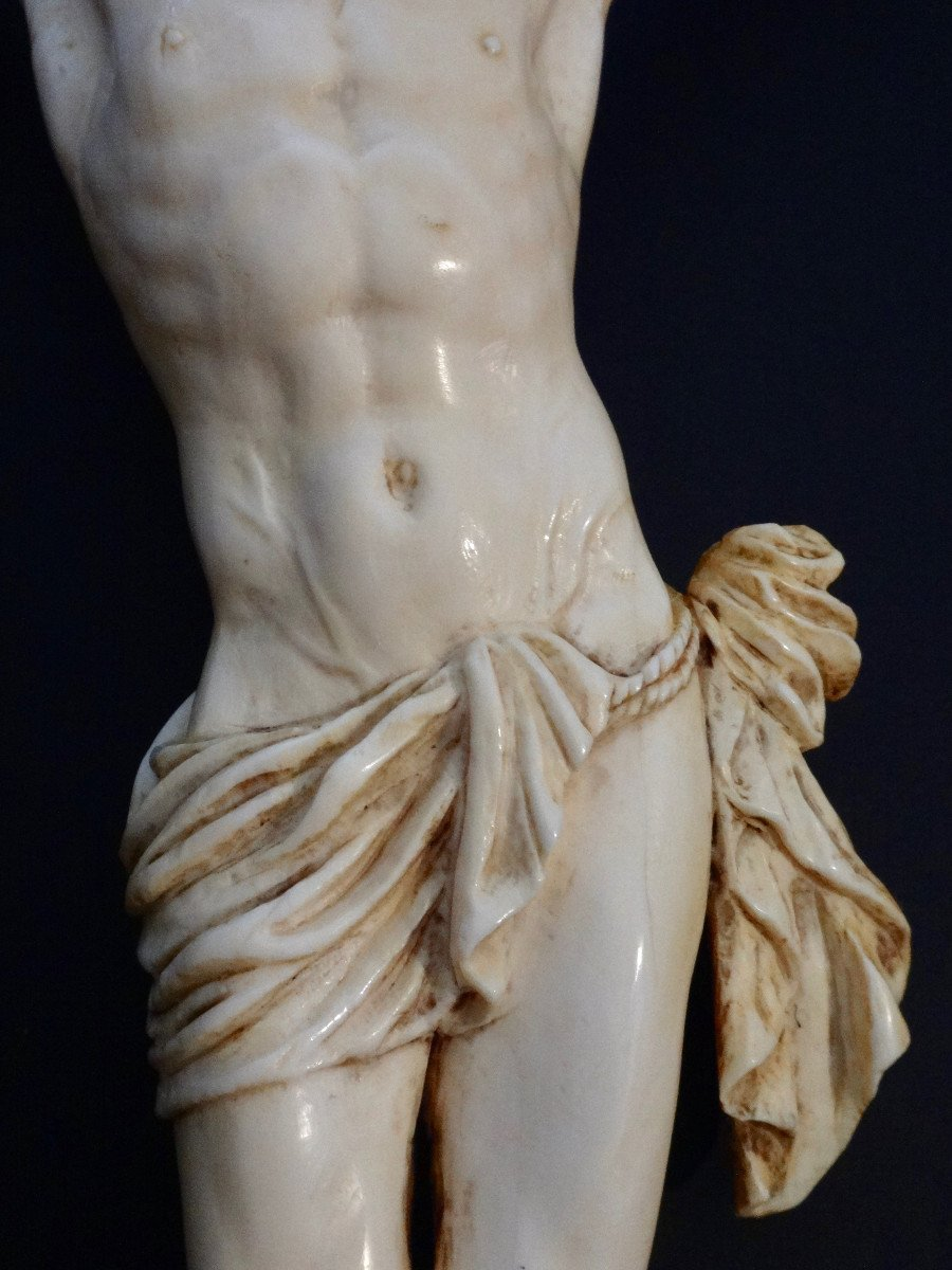Large Christ In Ivory Carved In The Louis XIV Style, 19th Century -photo-4