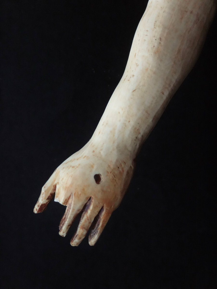 Large Christ In Ivory Carved In The Louis XIV Style, 19th Century -photo-8