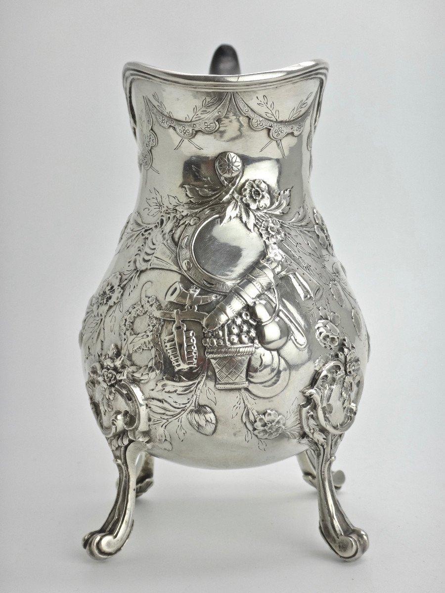 Pierre Pontus Tripod Milk Pot In Sterling Silver Eighteenth Time-photo-3