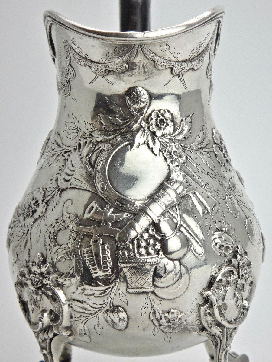 Pierre Pontus Tripod Milk Pot In Sterling Silver Eighteenth Time-photo-4
