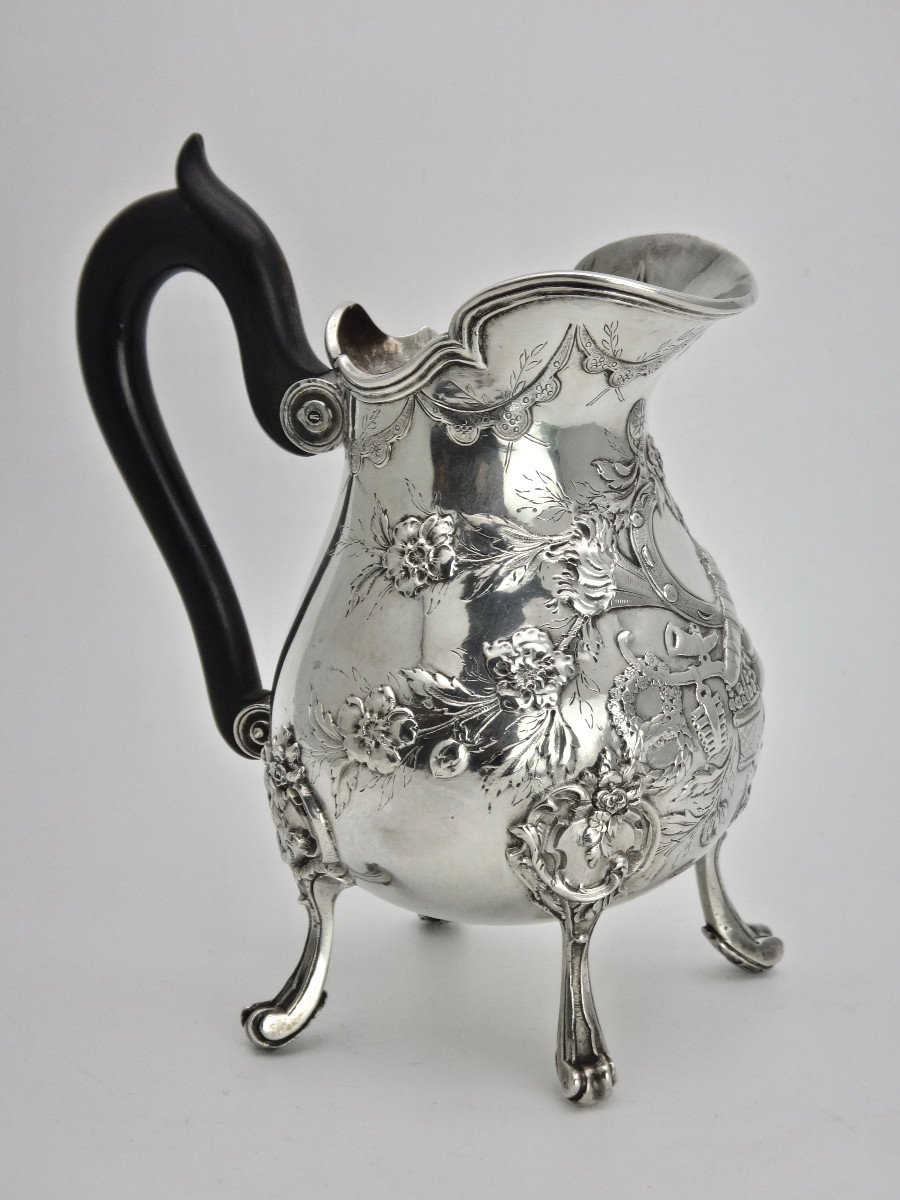 Pierre Pontus Tripod Milk Pot In Sterling Silver Eighteenth Time