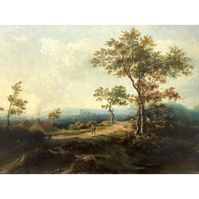 Marianus Adrianus Koekkoek (1807-1870) Oil On Wood