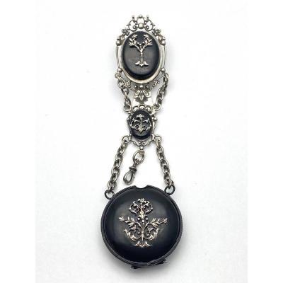 Chatelaine à Clavet Door Pocket Watch Napoleon III Nineteenth