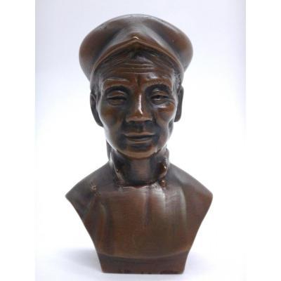 Hanoi School Maoist Bronze Bust Vietnam Twentieth Time