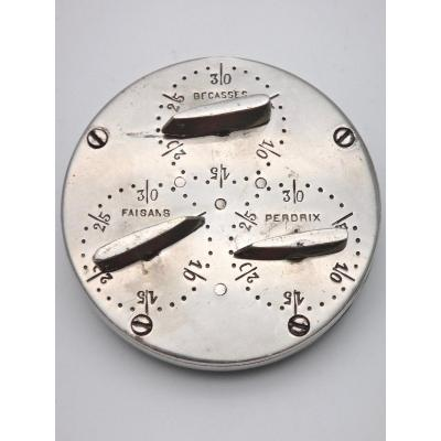 Old Game Counter In Silver Plated Brass