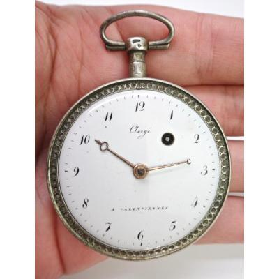 Gousset Watch With Cock In Solid Silver From The 19th Century