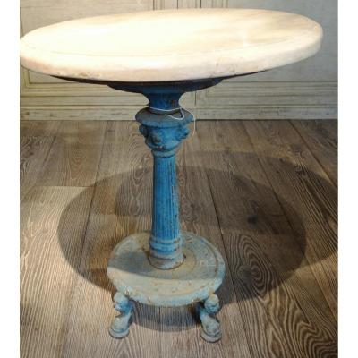 Painted Cast Iron, France 19th Century Stone Top