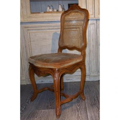 Set Of 6 Dining Chairs French Regence Style