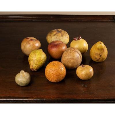 Lot De Fruits En Marbre