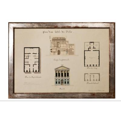 Dessin d'Architecture 19ème Siècle
