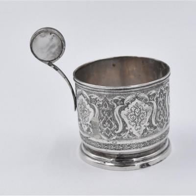 Glass Holder For Tea In Sterling Silver Islamic Iran Persia Early XXth Middle East