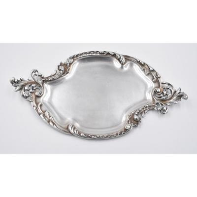 Plateau In Sterling Silver Minerva Style Louis XV Decor Rocaille
