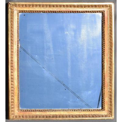 Miroir d' époque Louis XVI En Bois Doré 18 ème