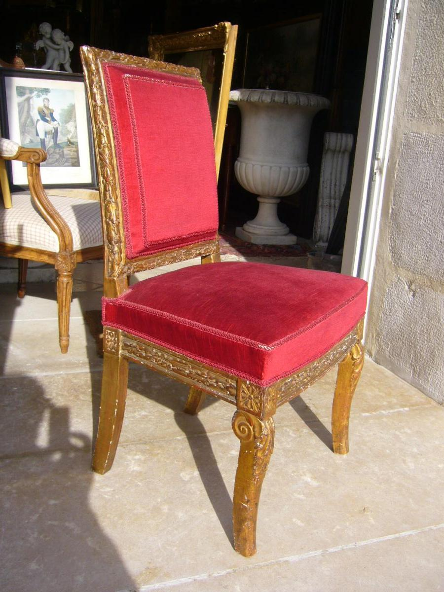 Pair Of Chairs Wood Dore