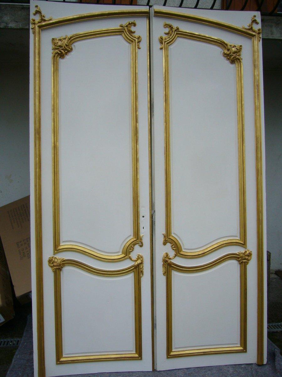 Grande Paire De Portes Louis XV