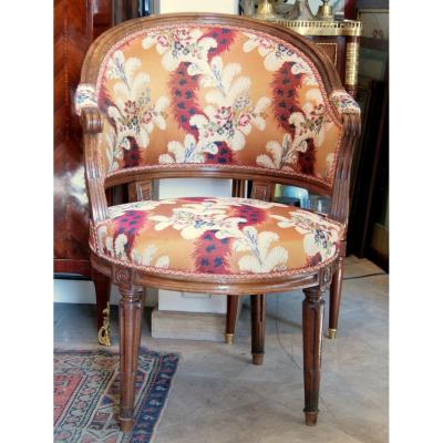 Desk Chair Louis XVI Walnut