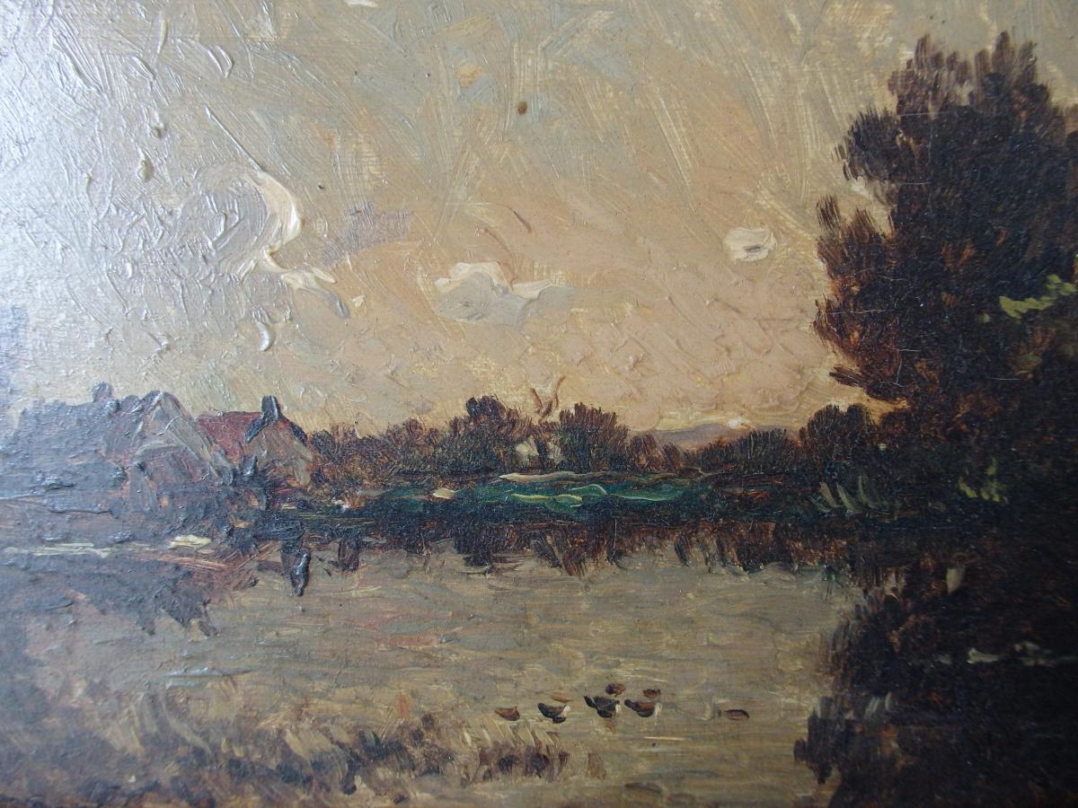 Peinture sur bois painting landscape for Peintre sur bois