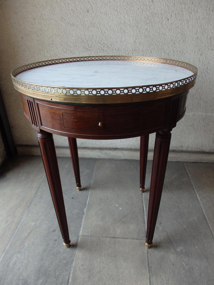 Table Bouillotte de style Louis XVI en acajou Fin 19ème