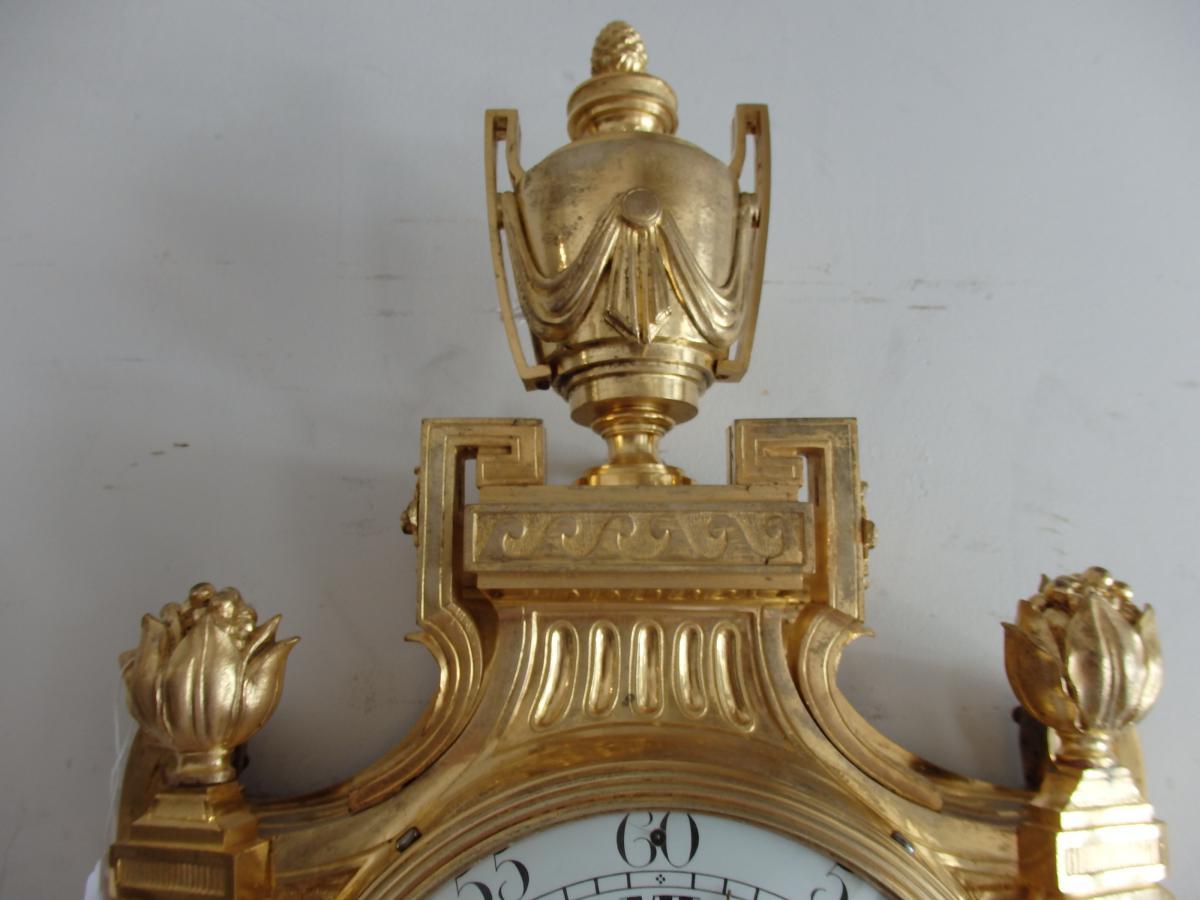 Cartel d'Applique En Bronze Doré d'époque Louis XVI