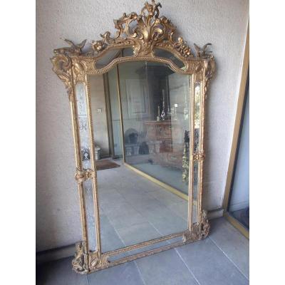 Miroir En Stuc Doré à Parcloses