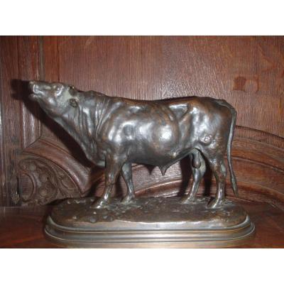 Taureau En Bronze Signé Rosa Bonheur