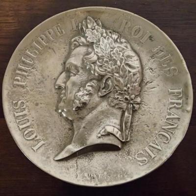 Grande Médaille En Bronze Représentant Louis Philippe