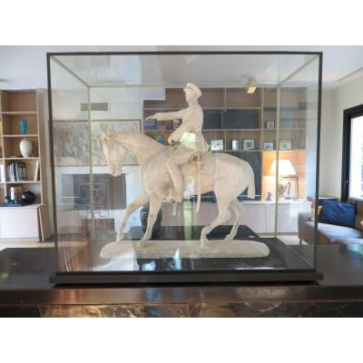Equestrian Sculpture Mounted Part Albert 1st Kings Of The Belgians