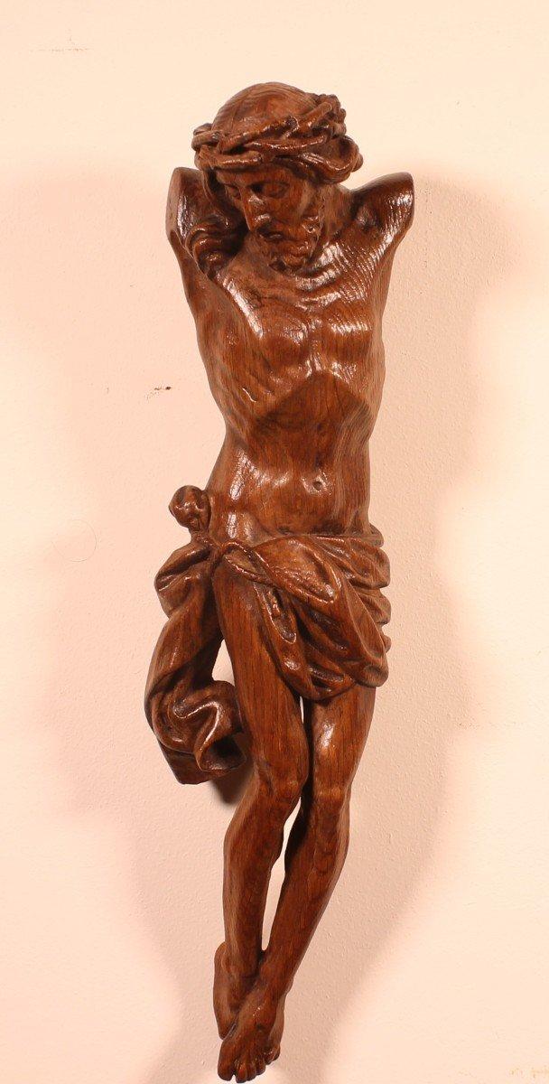 Christ 18° Siècle En Chêne -france