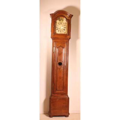 Clock Early 19 ° Birch And Oak Painting Napoleon