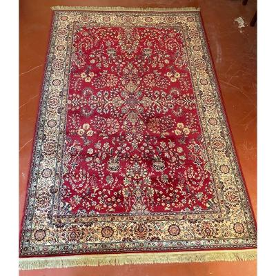 Persian Rug 2m13-2m02 With Red Decor
