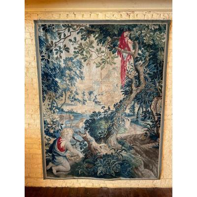 Brussels Tapestry Second Part Of The 17th Century -quarter Of Point