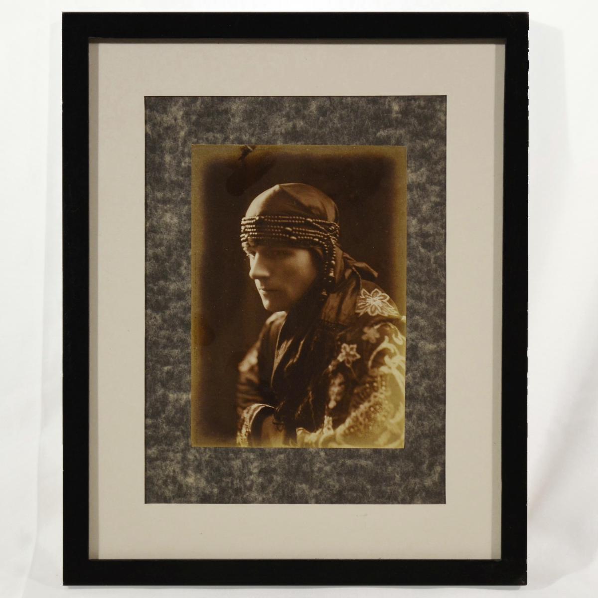Portrait Of Man Orientalist Photo Late Nineteenth Early Twentieth