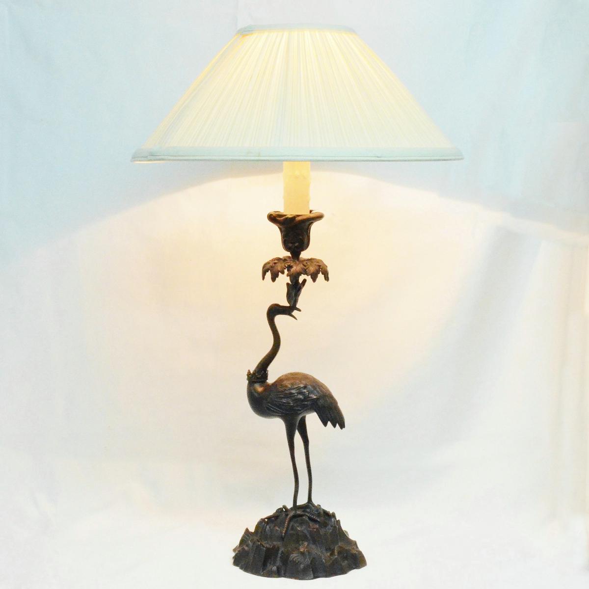 Lampe En Bronze Style Louis XV Dans Le Goût De l'Orient XIXème-photo-6
