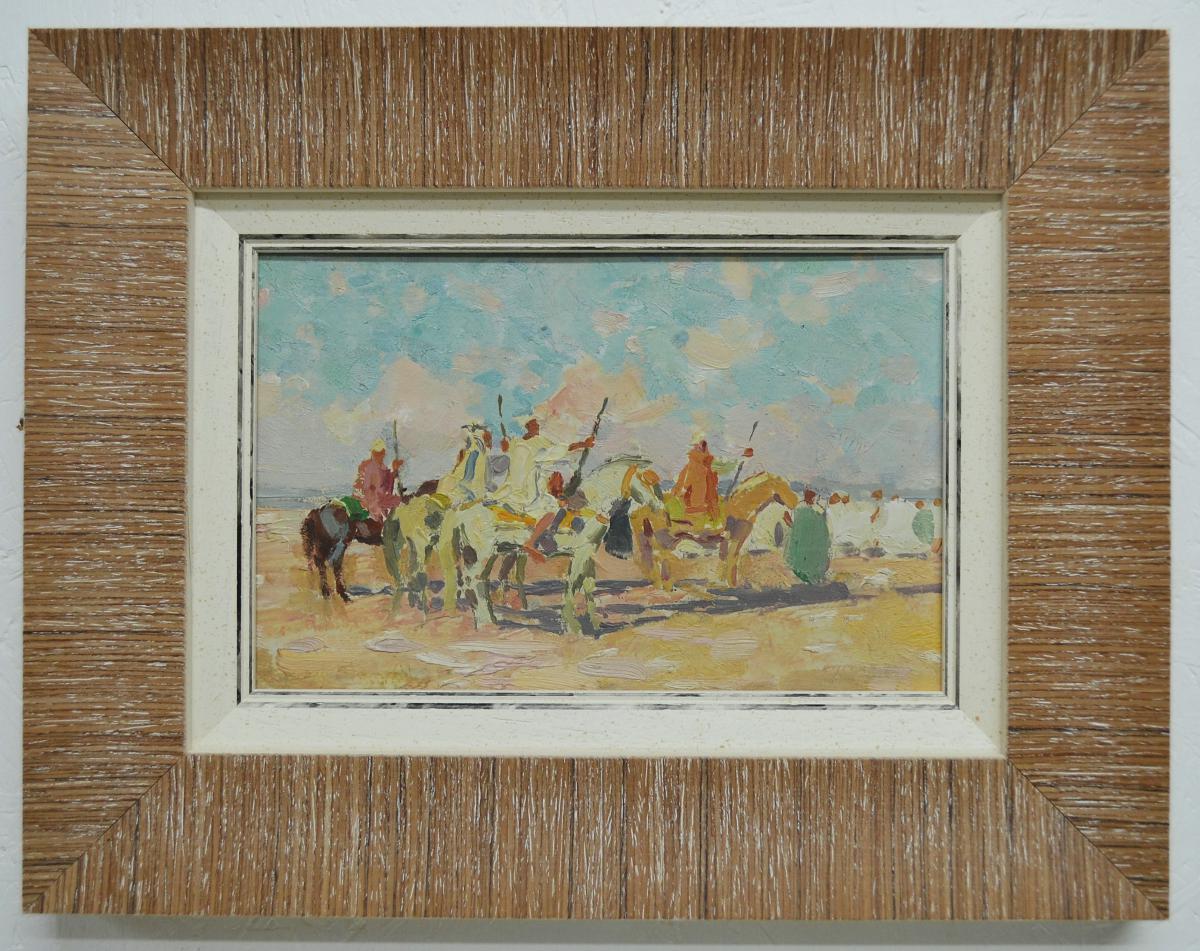 "Pair Of Orientalist Paintings ""fantasia""-photo-3"