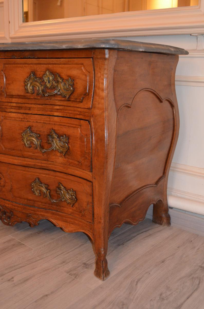 Antique Louis XV Commode In Walnut Early Eighteenth-photo-4