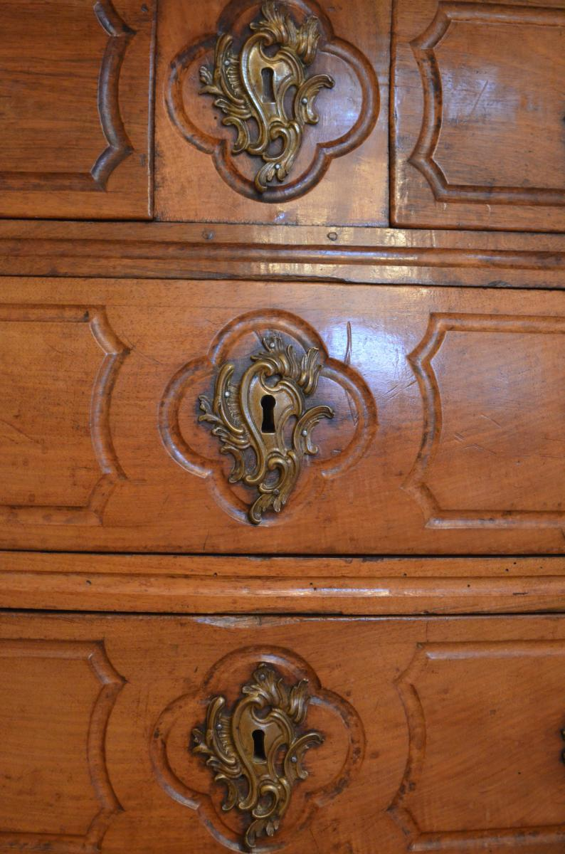 Antique Louis XV Commode In Walnut Early Eighteenth-photo-3