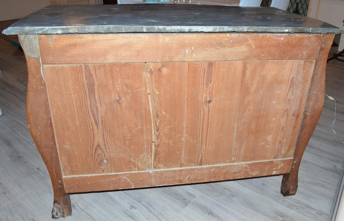 Antique Louis XV Commode In Walnut Early Eighteenth-photo-8