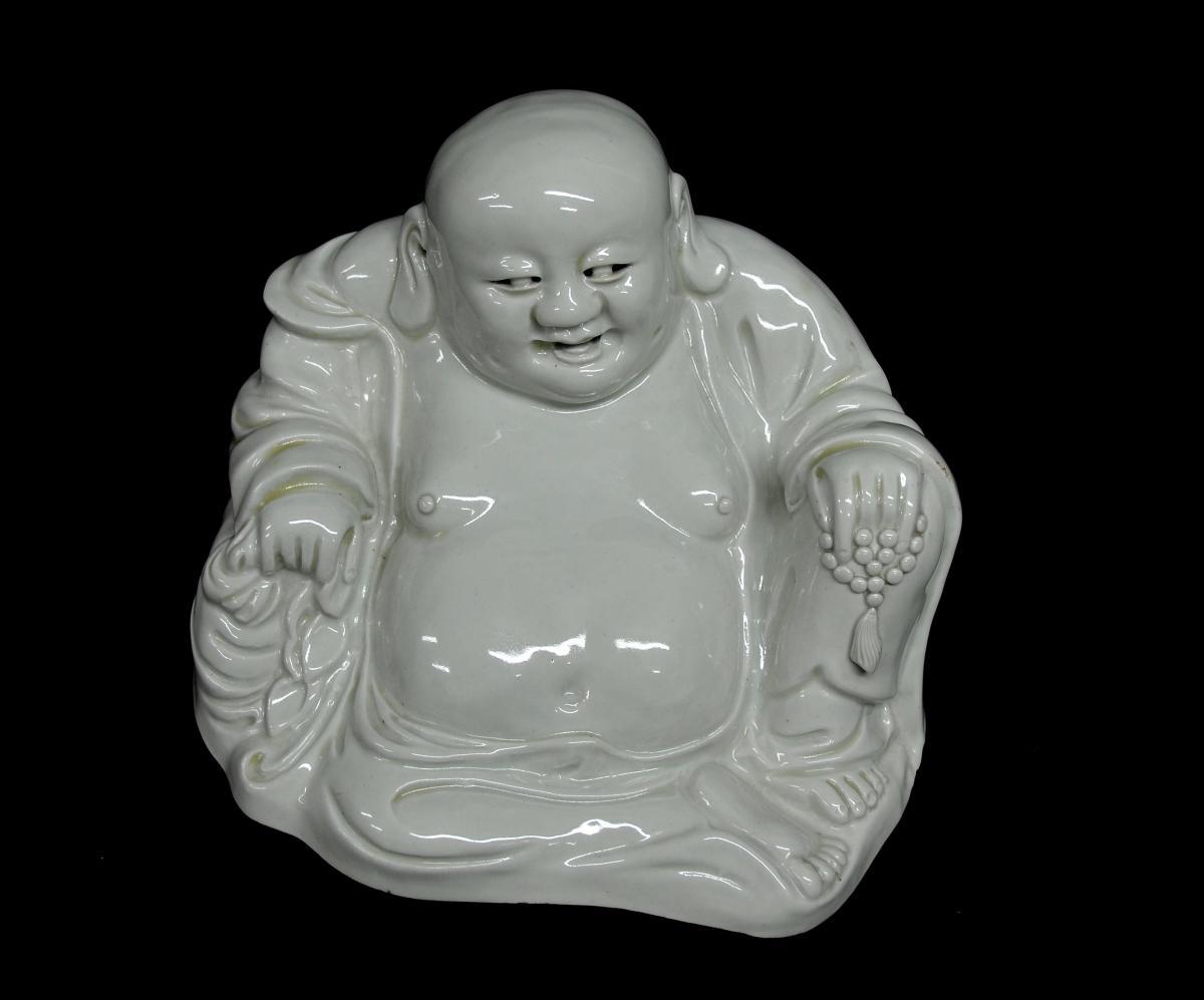 Statuette de Budai en Porcelaine XIXè -photo-1