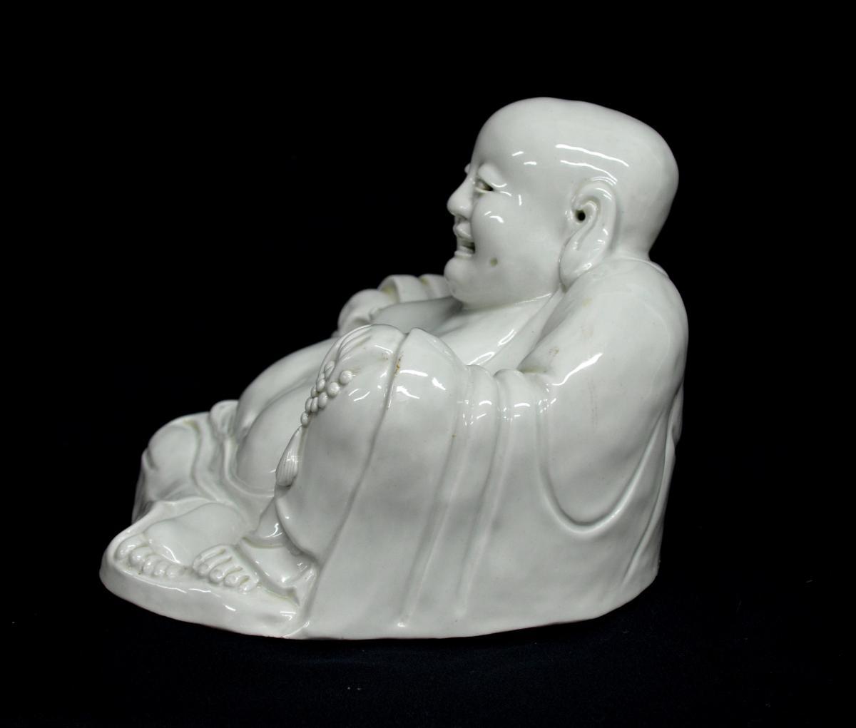Statuette de Budai en Porcelaine XIXè -photo-2